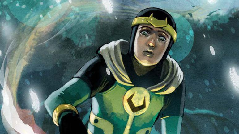 Kid Loki using his magical powers