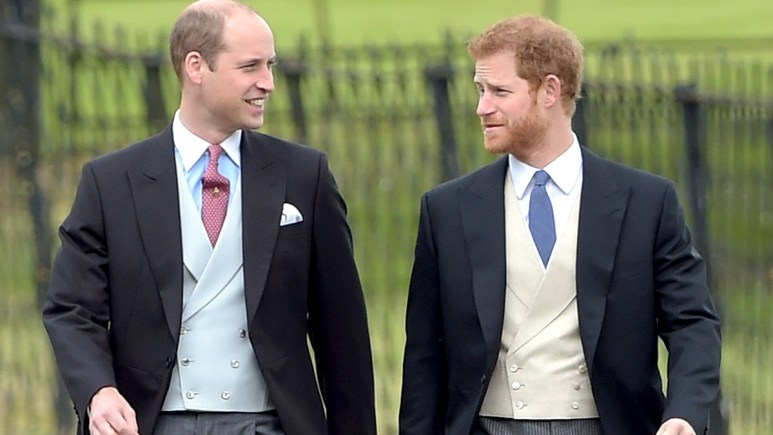 Princes Harry and William.