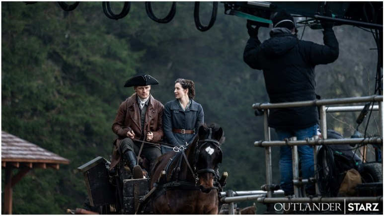 Sam Heughan as Jamie and Caitriona Balfe as Claire, as seen in Season 6 of Starz's Outlander