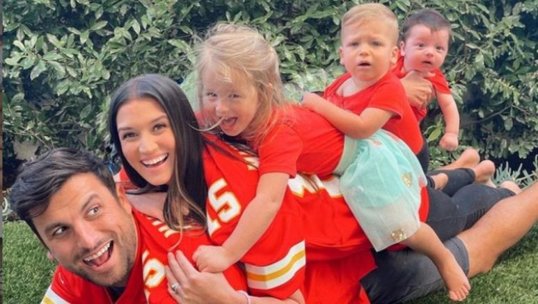 Jade Roper and Tanner Tolbert with their three children