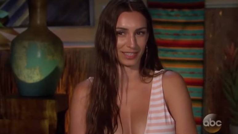 Astrid Loch films for Bachelor in Paradise.