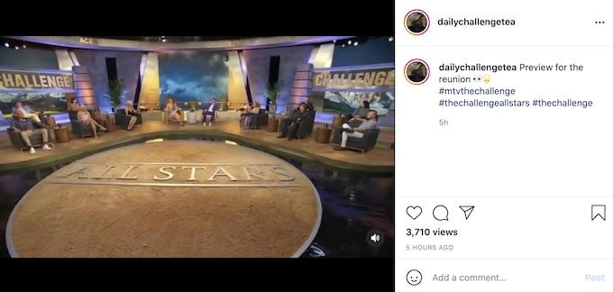 screenshot of the challenge all stars reunion cast members