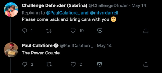 paulie calafiore tweets about power couple