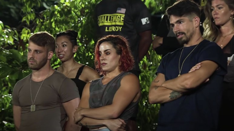paulie cara maria and jordan during the challenge war of the worlds 2