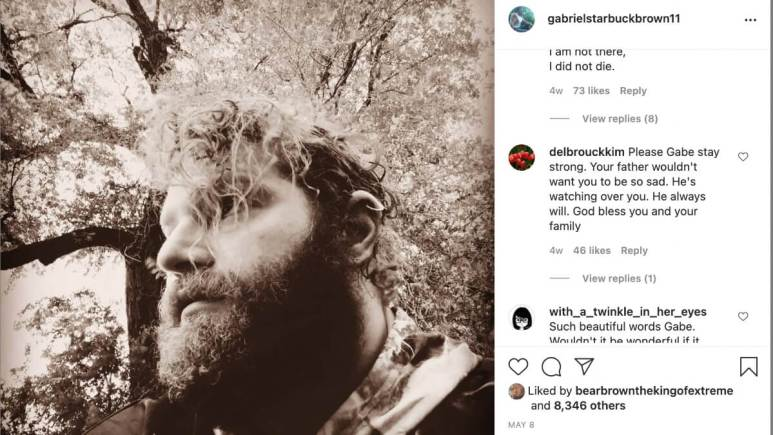 Alaskan Bush People's Gabe Brown shares a post about his poems.