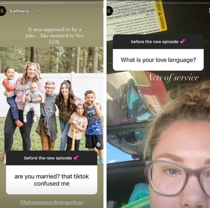 Kail Lowry of Teen Mom 2 on Instagram
