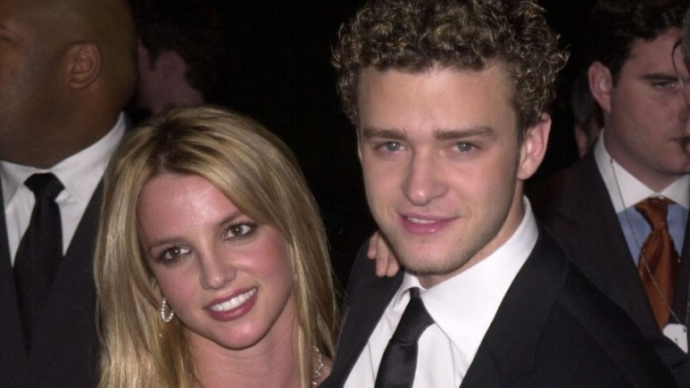 Justin Timberlake and Britney Spears on the red carpet