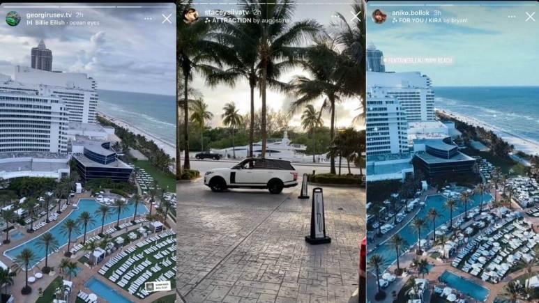 Georgi, Aniko, and Stacey's Instagram videos stills