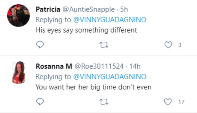 Fans think Vinny has the hots for Angelina