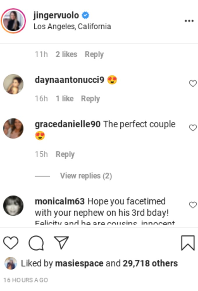 Comment on Jinger's post.