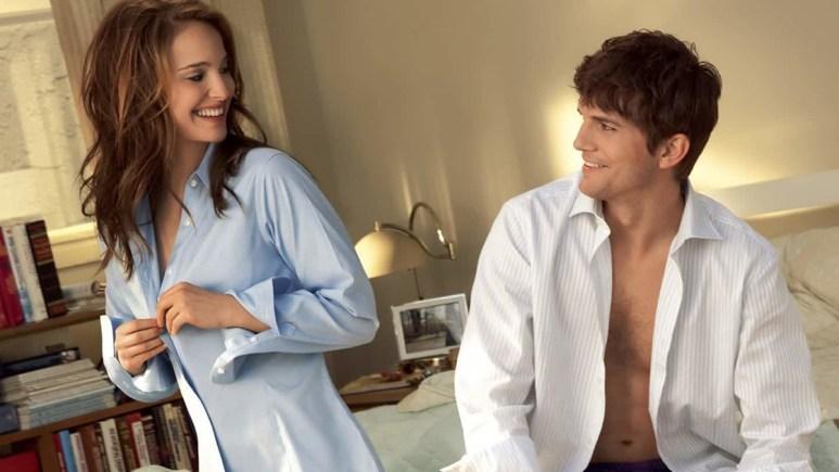 Natalie Portman and Ashton Kutcher in No Strings Attached
