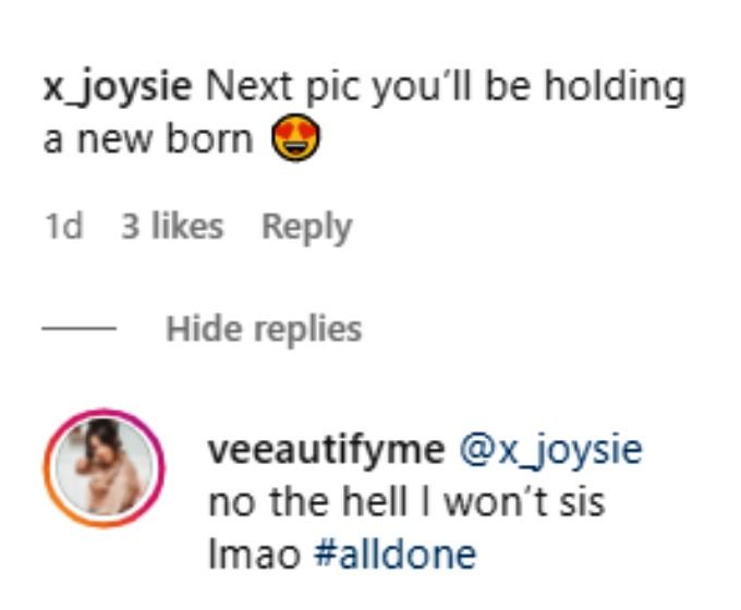 Vee Rivera of Teen Mom 2 on Instagram