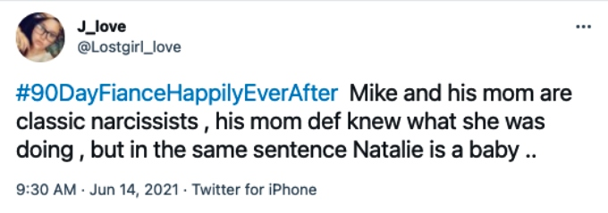 Fans comment on Natalie, Mike and Trish