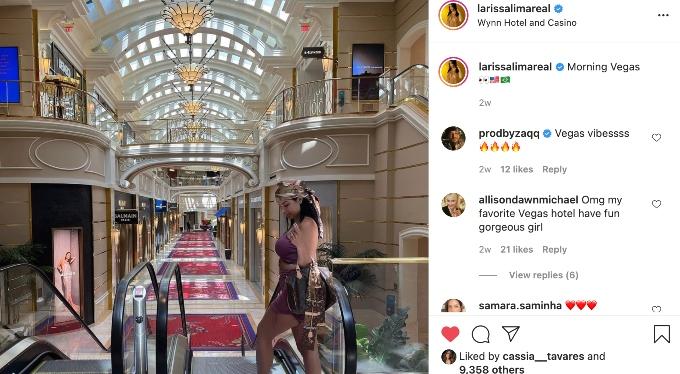 Larissa showing off her trip to Las Vegas.