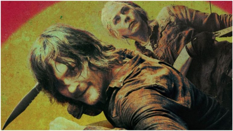 Norman Reedus as Daryl Dixon and Melissa McBride as Carol Peletier, as seen in key artwork for Season 10 of AMC's The Walking Dead