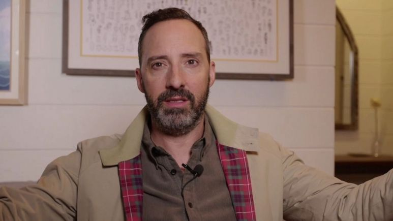 Screenshot from Tony Hale interview.