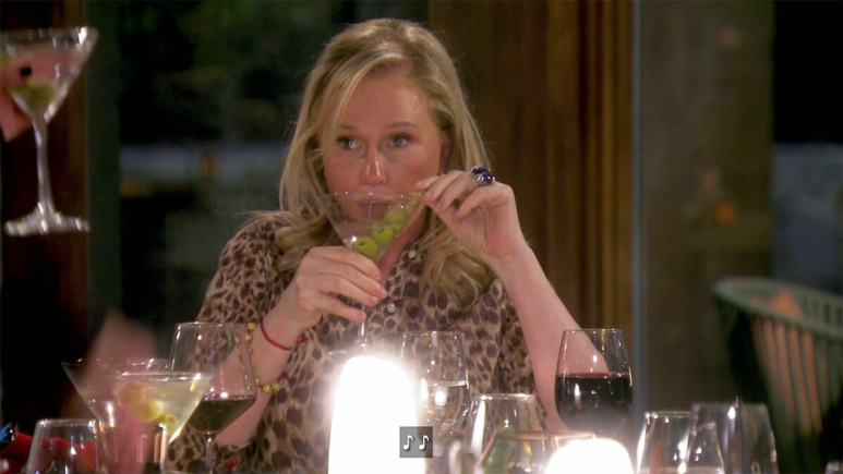 Real Housewives of Beverly Hills newbie Kathy Hilton drinks a fake martini