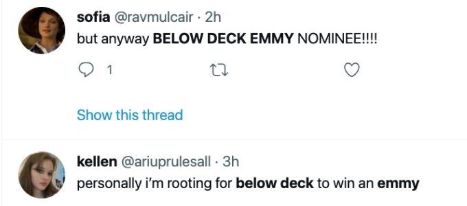 Fans react to Below Deck Emmy news