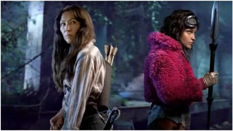 """Eleanor Matsuura as Yumiko and Paola Lazaro as Juanita """"Princess"""" Sanchez, as seen in the Season 11 trailer for AMC's The Walking Dead"""