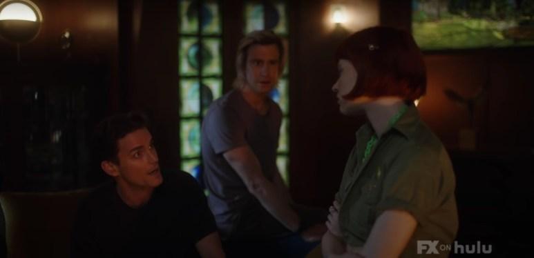 Matt Bomer as Michael, Gavin Creel as Troy, and Sierra McCormick as Scarlett, as seen in Episode 2 of FX's American Horror Stories
