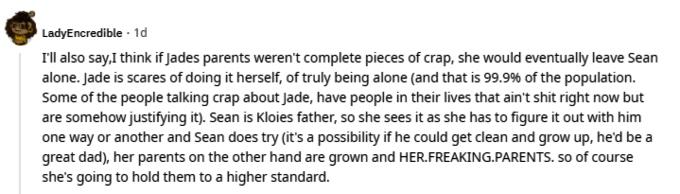 Jade Cline of Teen Mom 2 on Reddit