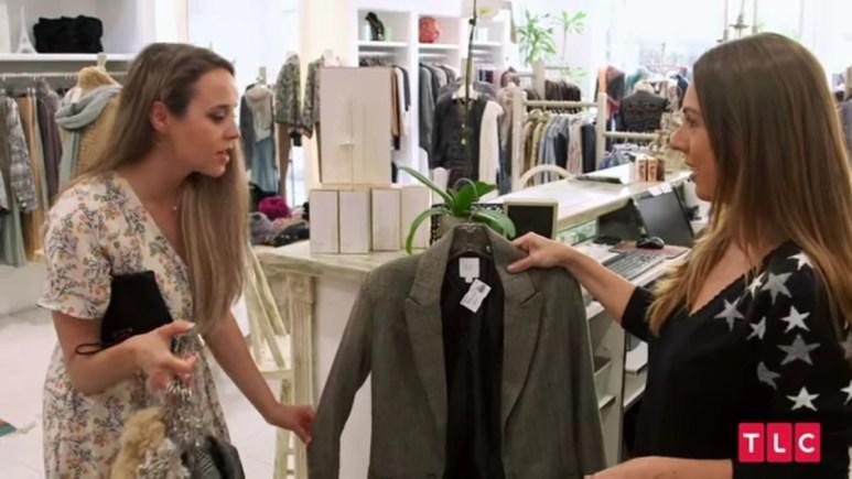 Jinger Duggar buying her expensive blazer.