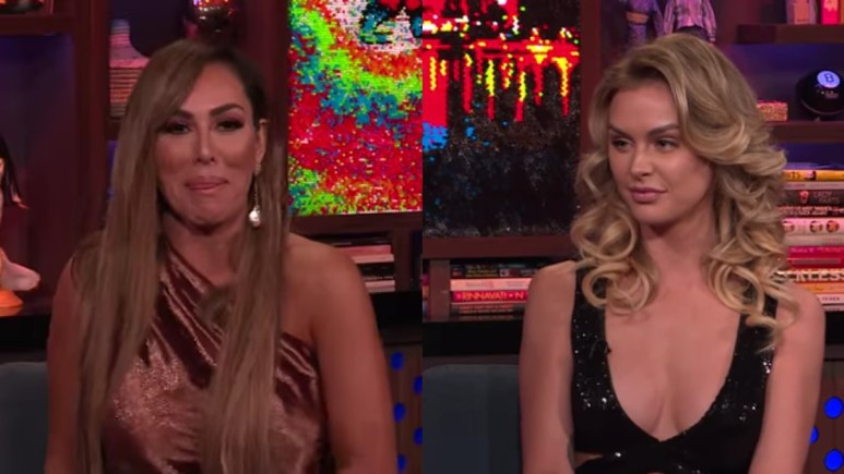 Kelly Dodd and Lala Kent on WWHL.