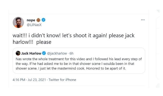 Screenshot of Lil Nas X's tweet.