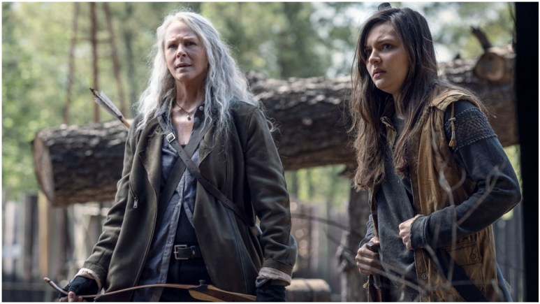 Melissa McBride as Carol Peletier and Cassady McClincy as Lydia, as seen in Season 11 of AMC's The Walking Dead