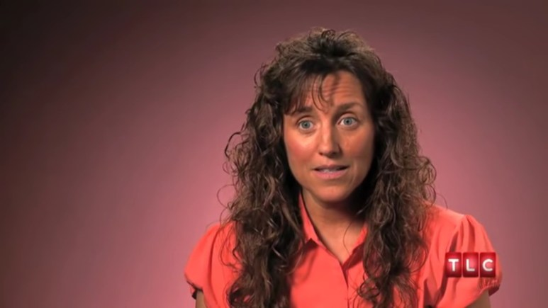 Michelle Duggar in a confessional.