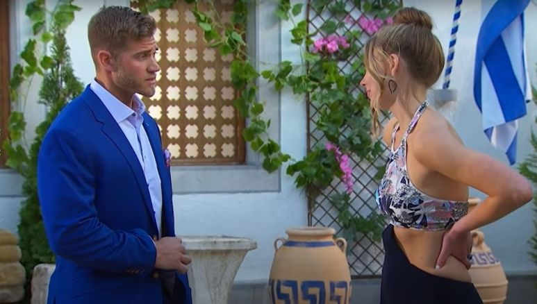 Hannah Brown sends home Luke Parker again during the rose ceremony