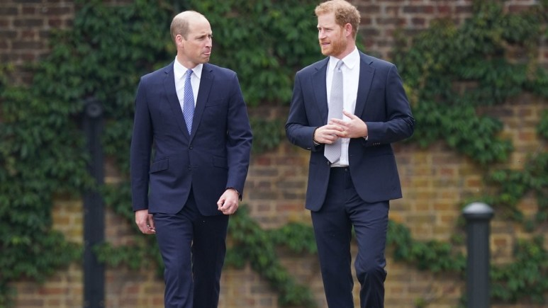 Harry and William at a royal event