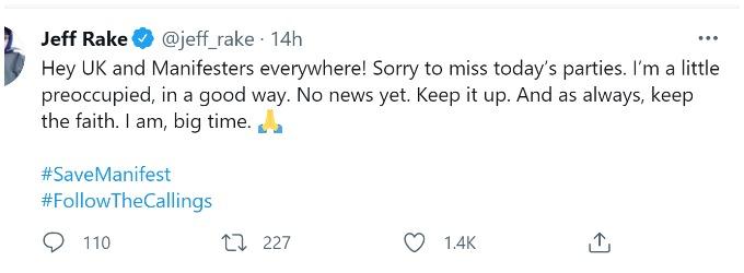 Jeff Rake on Twitter
