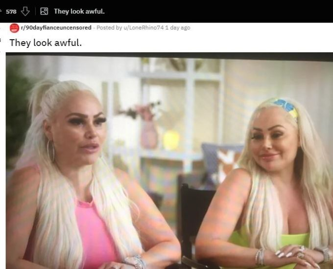 Reddit thread about Darcey and Stacey