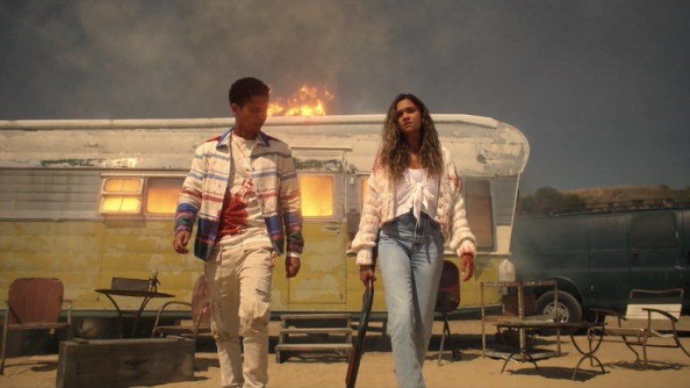 Rhenzy Feliz as Chad and Madison Bailey as Kelley, as seen in Episode 3 of FX's American Horror Stories