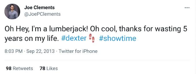 A fan responds to Dexter finale