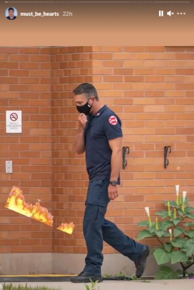 Severide On Set Chicago Fire