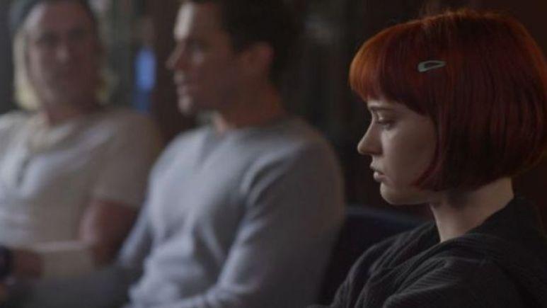 Gavin Creel as Troy, Matt Bomer as Michael, and Sierra McCormack as Scarlett, as seen in Episode 1 of FX's American Horror Stories