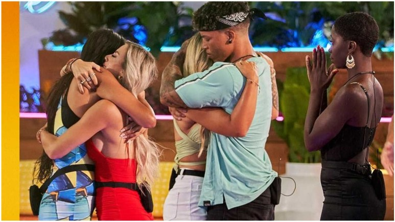 The Love Island USA eliminated Islands hug goodbye