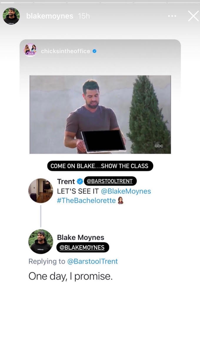 Blake responds to a comment