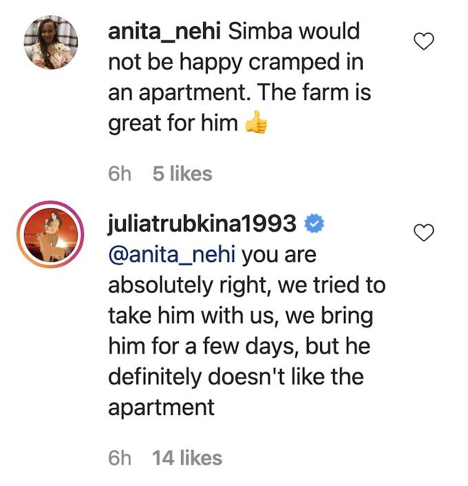Julia Trubkina of 90 Day Fiance on Instagram
