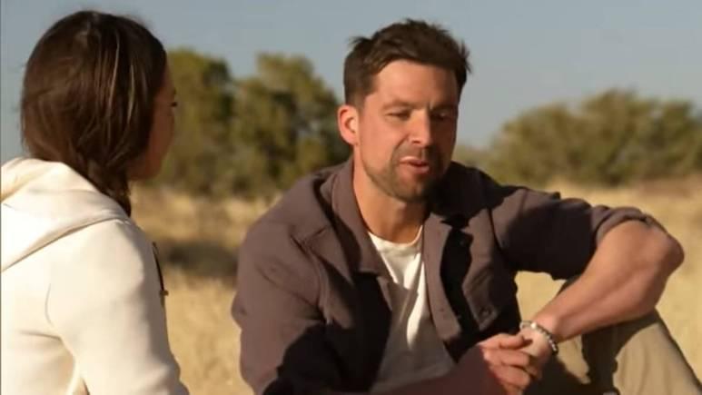 Michael Allio and Katie Thuston film for The Bachelorette
