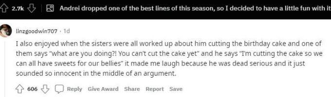 Reddit thread about Andrei Castravet