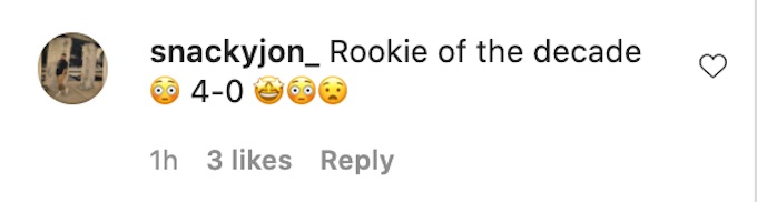 fan comments on the challenge season 37 rookie