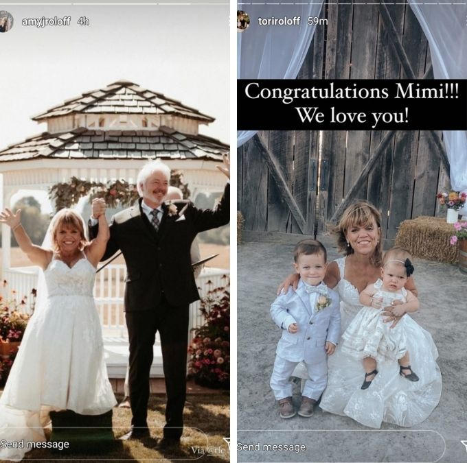 amy and tori roloff shared pics of the wedding on instagram