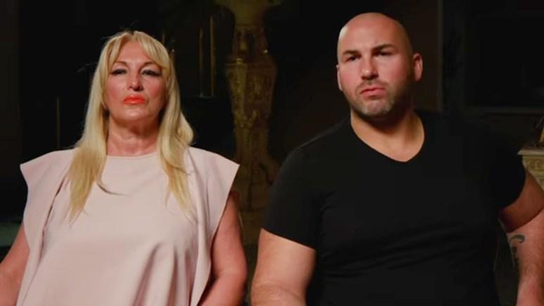 Angela and Eli in a Families of the Mafia confessional.