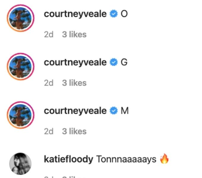 Katie and Courtney comments