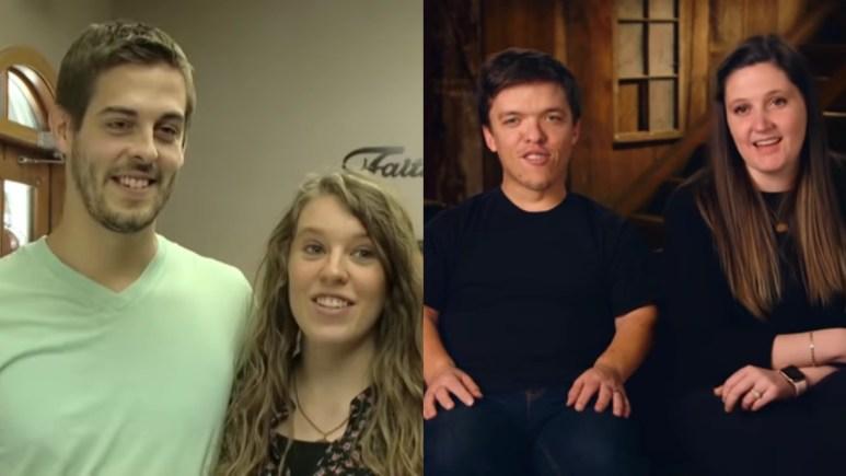 Derick Dillard, Jill Duggar, Zach Roloff, and Tori Roloff on their shows.