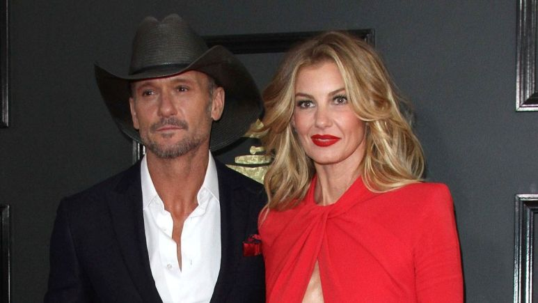 Red carpet image of Faith Hill and Tim McGraw