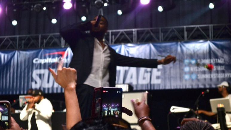 Image of Ginuwine performing at Summerstage.